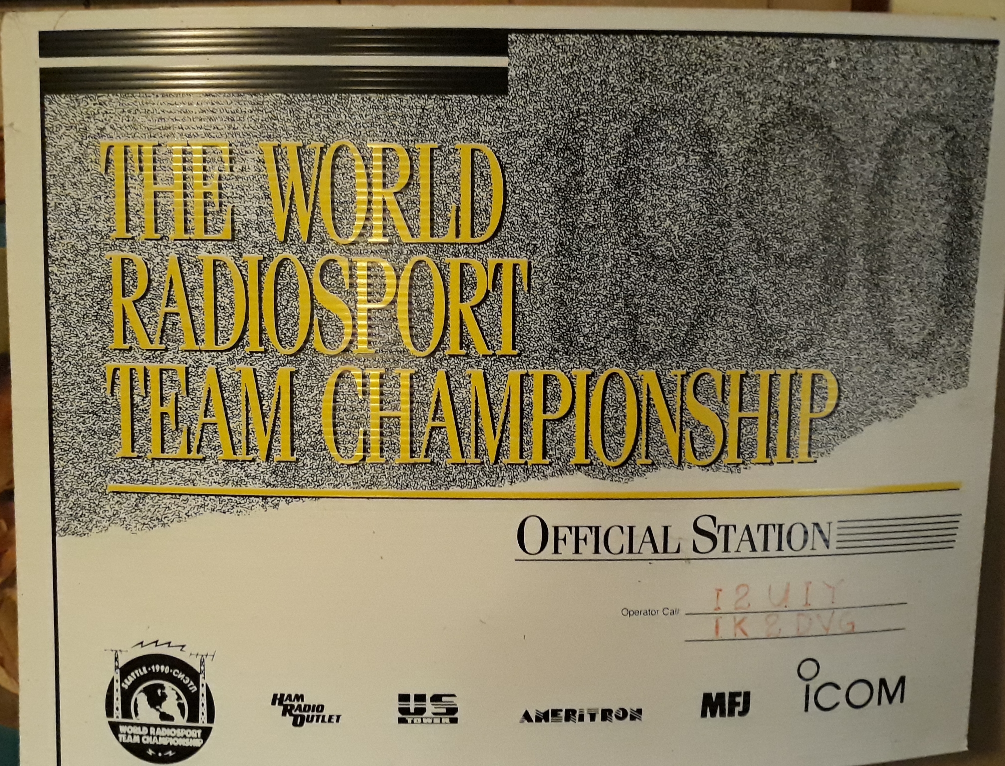 Official Station certificate